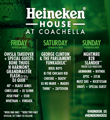 image002 George Clinton, BJ the Chicago Kid, Bone Thugs N Harmony to play Coachellas Heineken House