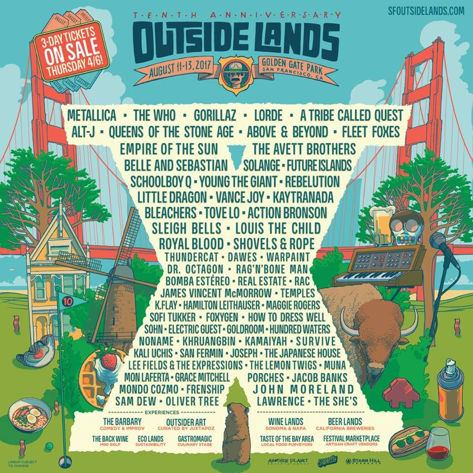 osl 17 Outside Lands 2017 Lineup: Two Days Later