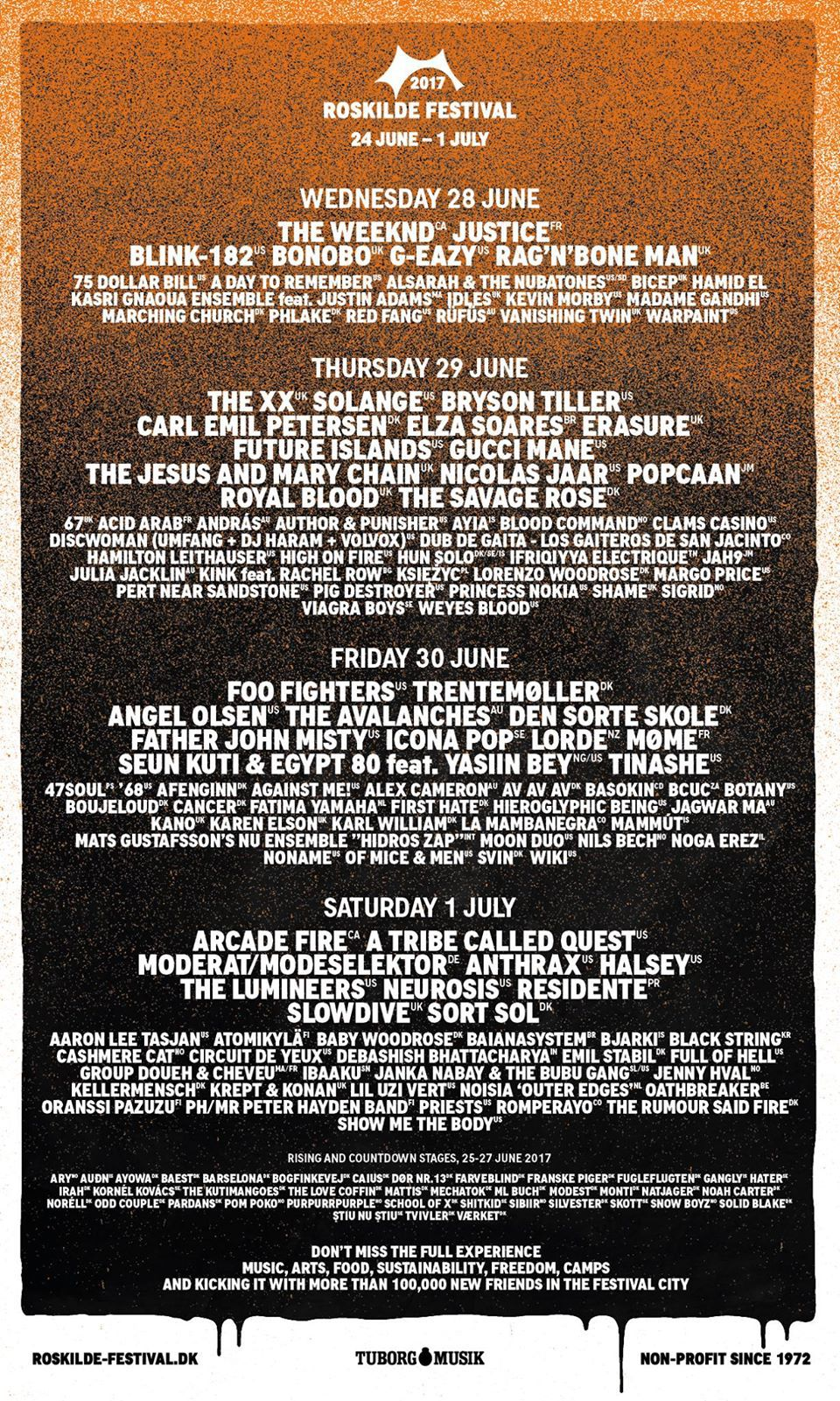 roskilde 2017 Roskilde Festival reveals 2017 lineup: Foo Fighters, Arcade Fire, A Tribe Called Quest to headline