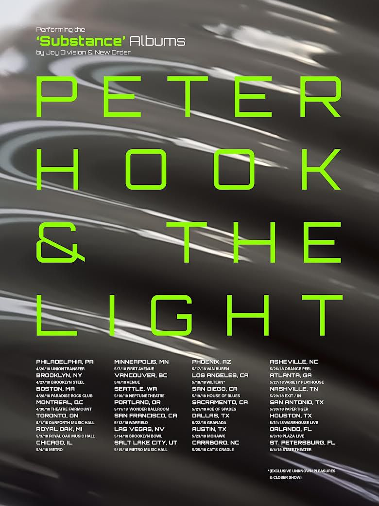 unnamed 191 Peter Hook & The Light add 2018 dates to Substance Live Tour