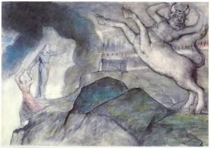 The Minotaur (1824–7) by William Blake